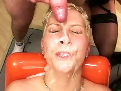 her first extreme anal bukkake party